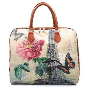 Handbags - Paris Theme Overnight Travel Tote Bag #3